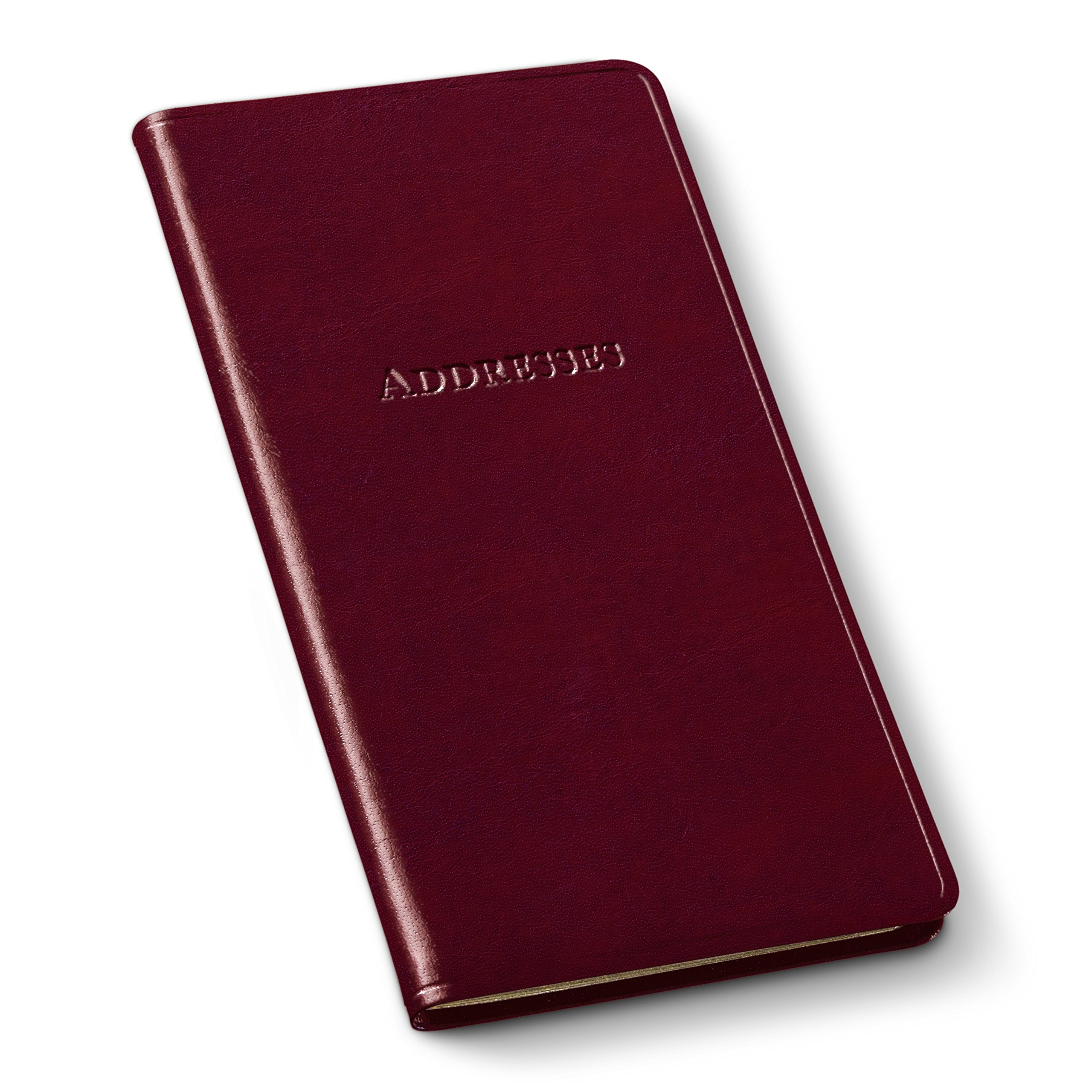 Gallery Leather Pocket Address Organizer Acadia Burgundy by Gallery Leather (Image #1)