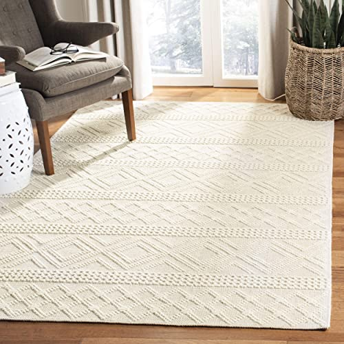 Safavieh Vermont Collection Ivory Premium Wool Area Rug, 8 x 10 ,