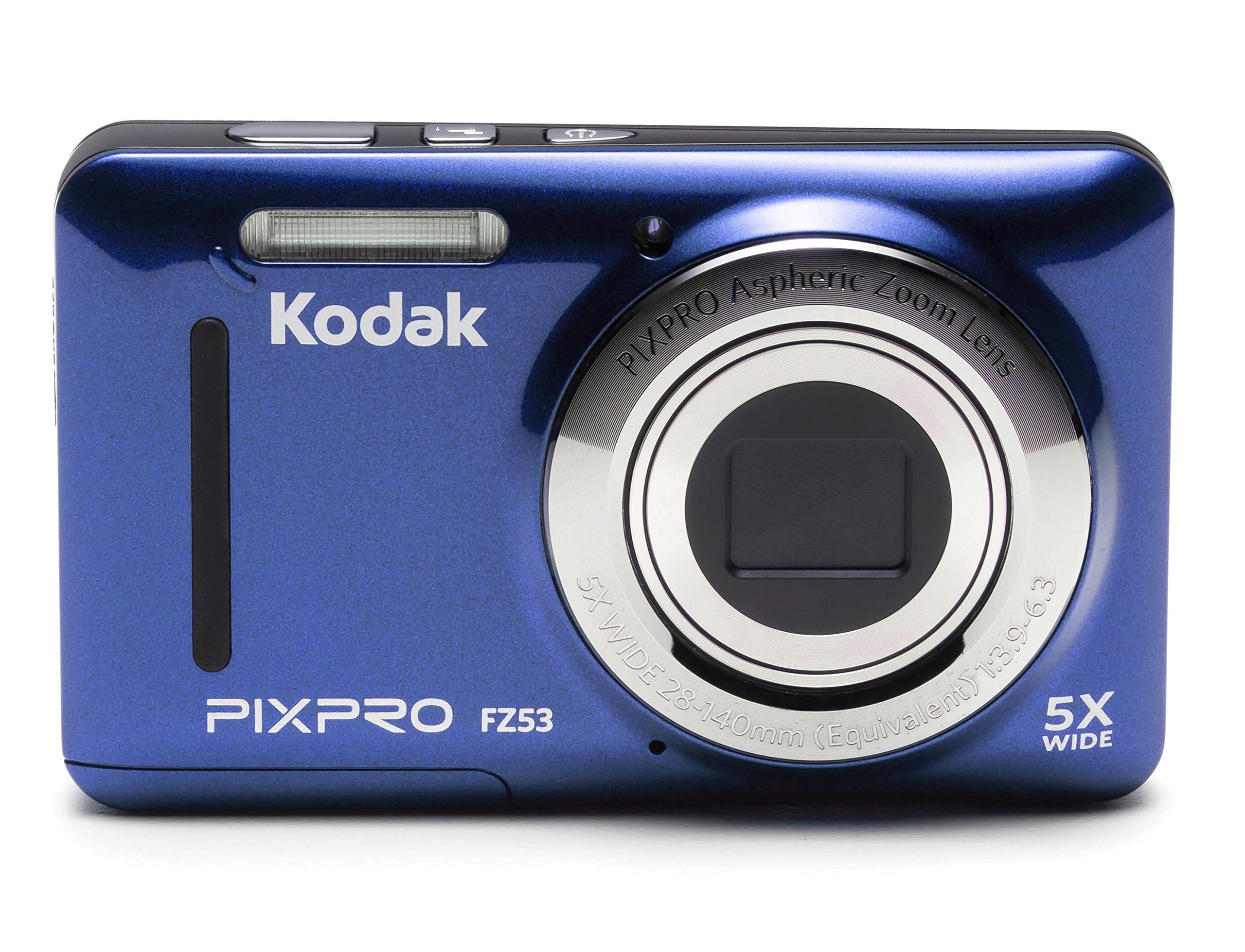 Kodak FZ53-BL Point Shoot Digital Camera 2.7'' LCD, Blue by Kodak