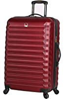 Lucas Luggage ABS Mid Size Hard Case 24 inch Rolling Suitcase With Spinner Wheels