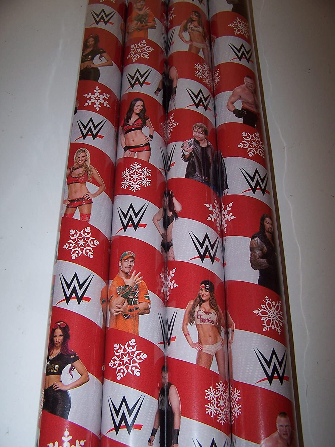 Amazon.com: WWE Wrapping Paper Christmas Gift Wrap (1 Roll, 70 Sq ...