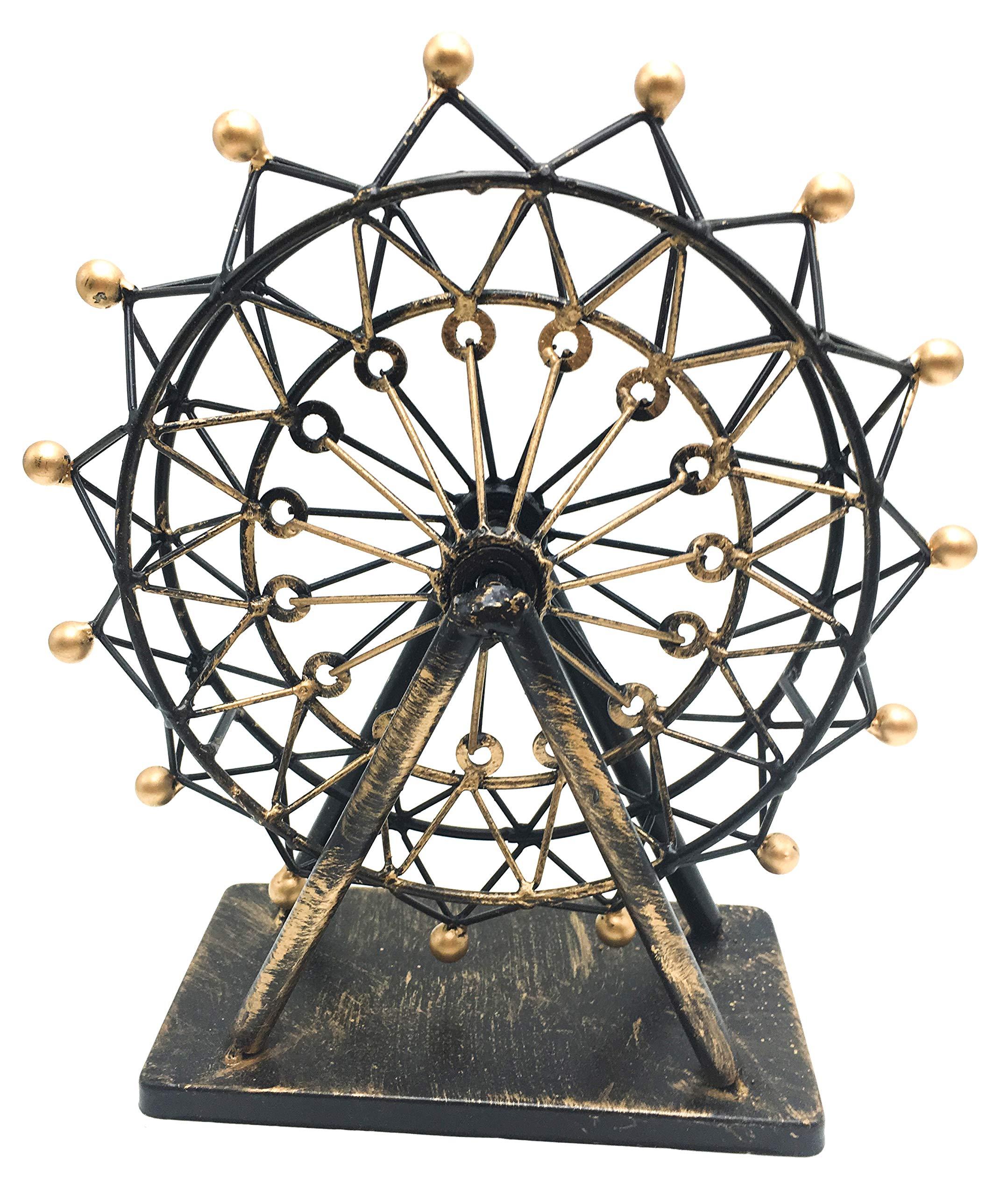 ZeeMoe Regular Sized Rotating Ferris Wheel Figurine Statue Vintage Craftsmanship, Fireplace, Tabletop, Office, Yard, Home Decoration