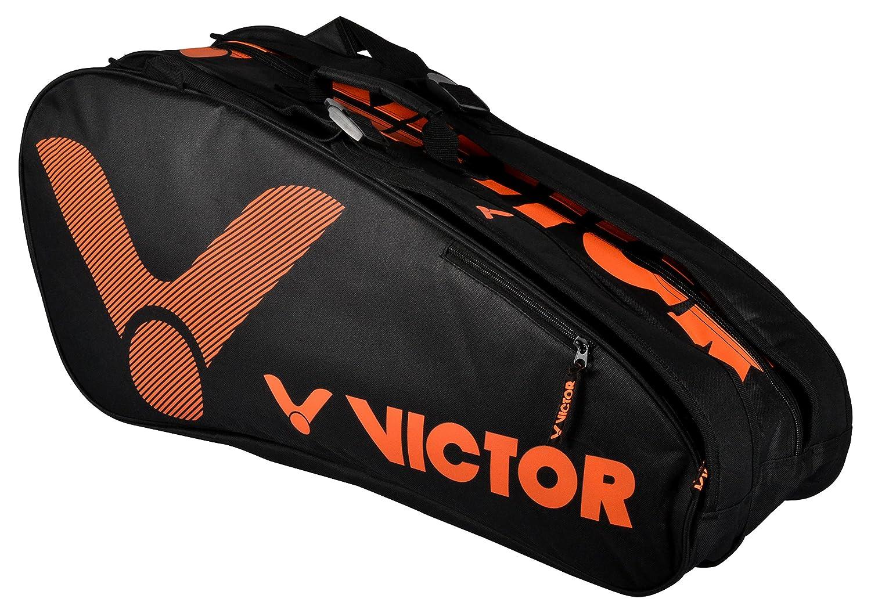 17f74ba6f7 Victor Vicor double thermo bag, limited badminton bag, blue, 76 x 33 x 26  cm, Unisex, VICOR Doublethermobag Limited orange, Orange, 76x33x26 cm: ...