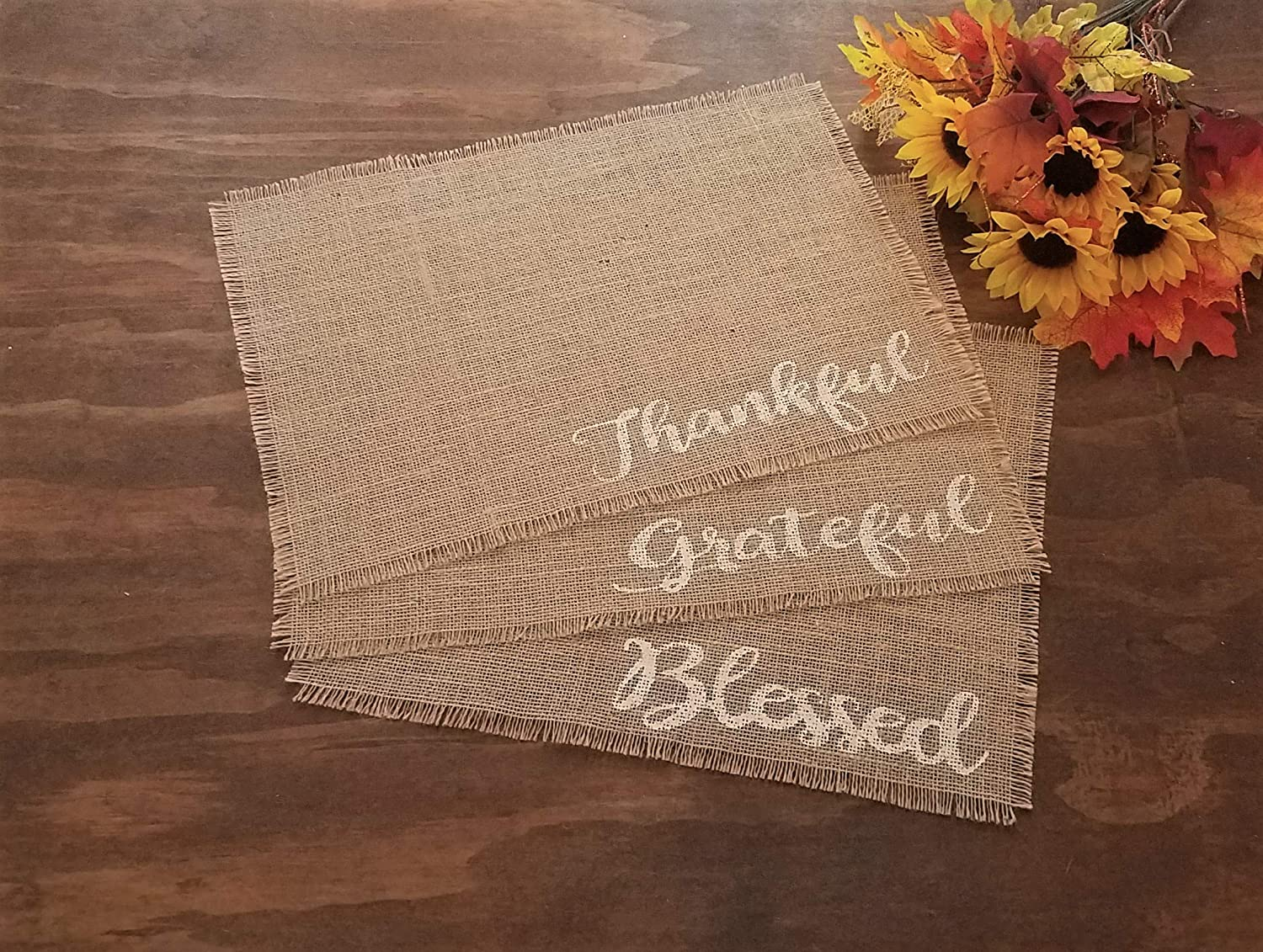 Rustic Fall Placemats For Dining Table, Burlap Fall Placemats, Fall Table Decorations, Rustic Thanksgiving Table Decor, Thanksgiving Placemats For Dining Table Set of 2, 4, 6, 8, 10, or 12