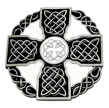 0dc1a212a75f Noeud Celtique   Croix Boucle de Ceinture - En Noir   Blanc - Authentique  Dragon Designs