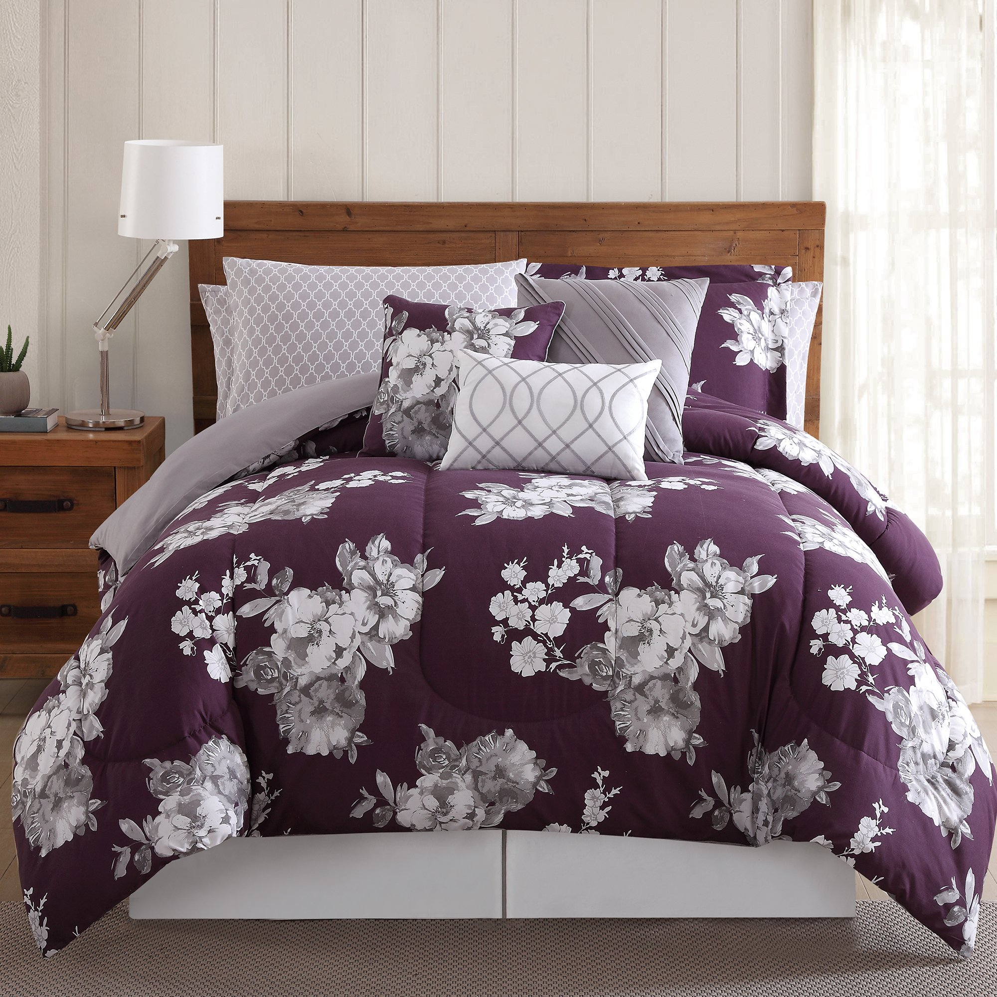 Style 212 12 Pieve Peony Bed Ensemble, King 10 Piece Set, Garden Floral Peony
