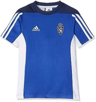 adidas Mt 14 Tee Y Camiseta Real Zaragoza Fc, Niños, Azul (Azufue)