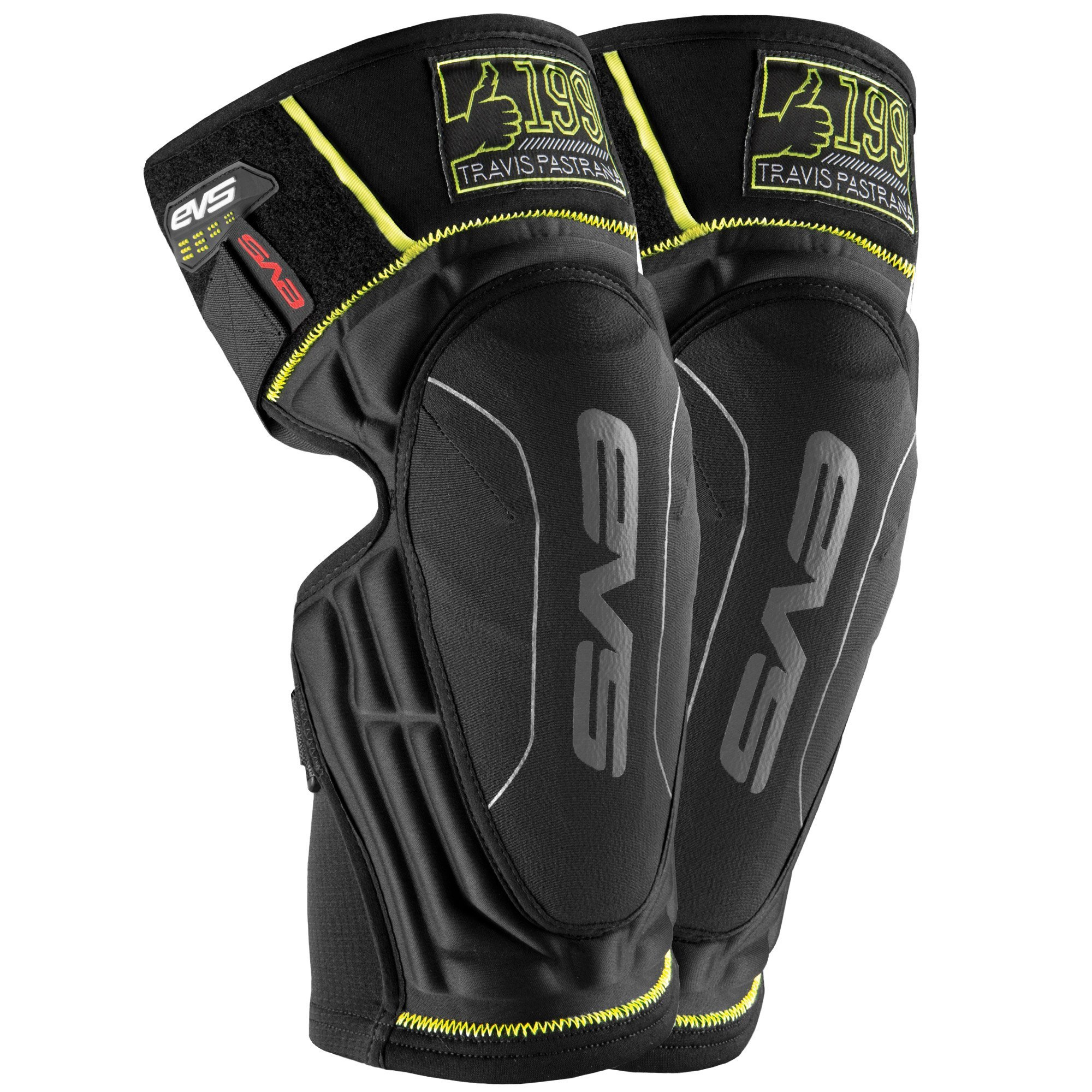 EVS Sports Men's Knee Pad (TP199 Lite Pair) (Black, Large/X-Large), 2 Pack by EVS Sports