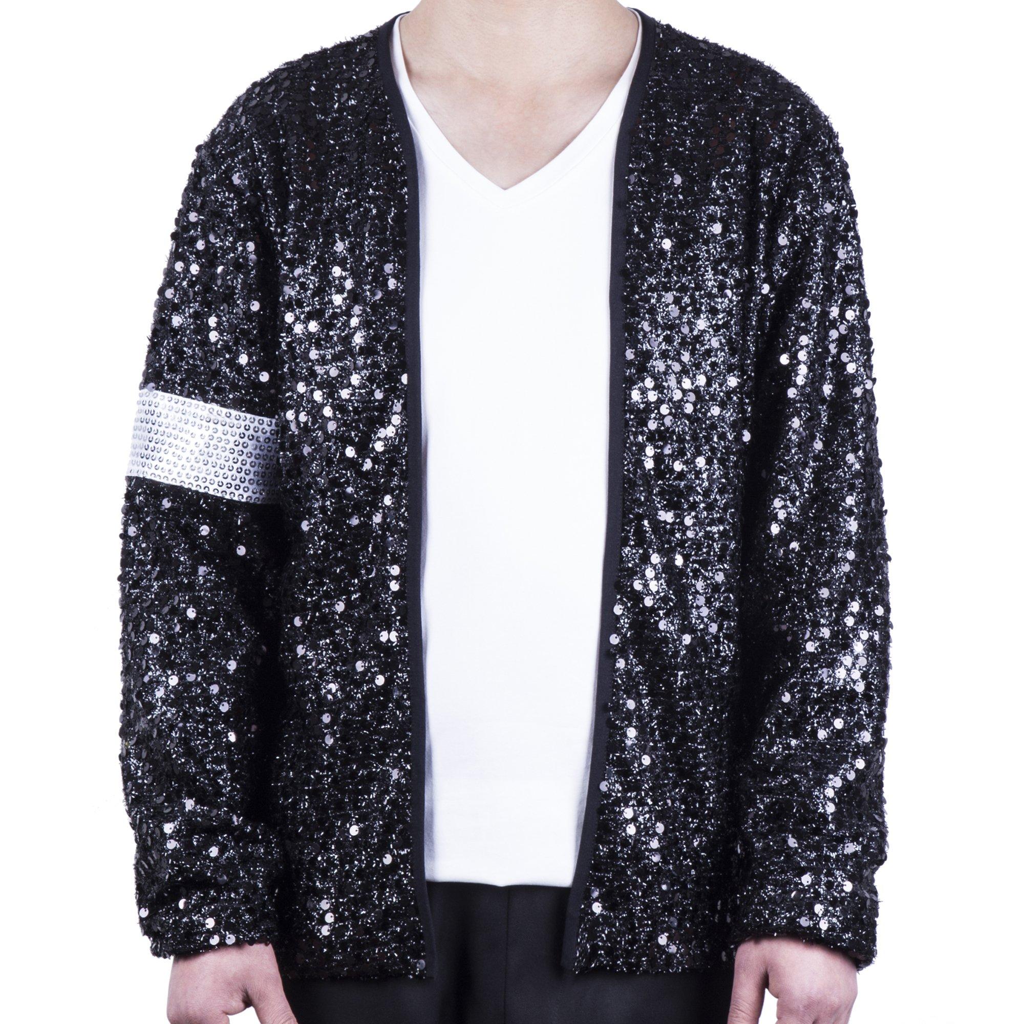 MJB2C - Billie Jean Costume Armband Sequin Jacket (Adult X-Small) Black by MJB2C