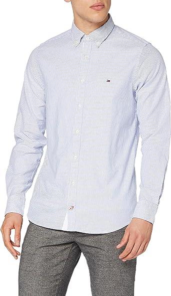 Tommy Hilfiger Core Stretch Slim Stripe Shirt Camisa para Hombre
