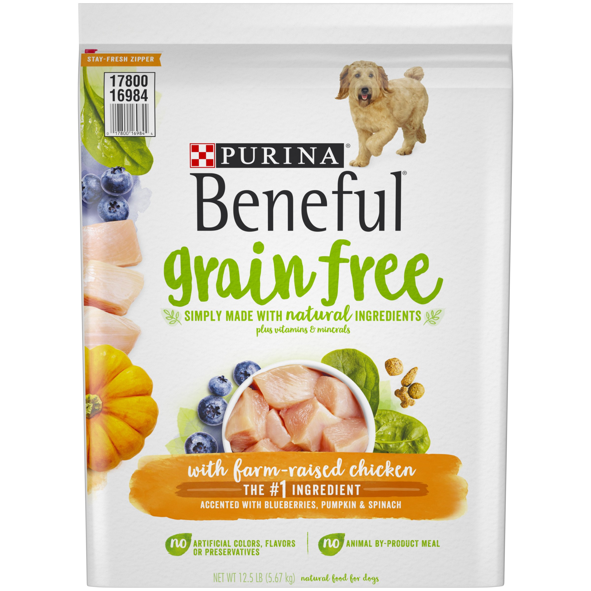 Purina Beneful Grain-Free with Real Farm-Raised Chicken Adult Dry Dog Food - 12.5 lb. Bag