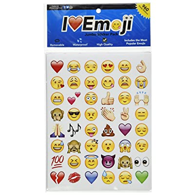 Emoji Jumbo Stickers   960 Most Popular Emoticons   Larger In Size   Cool, Educational and Fun: Toys & Games