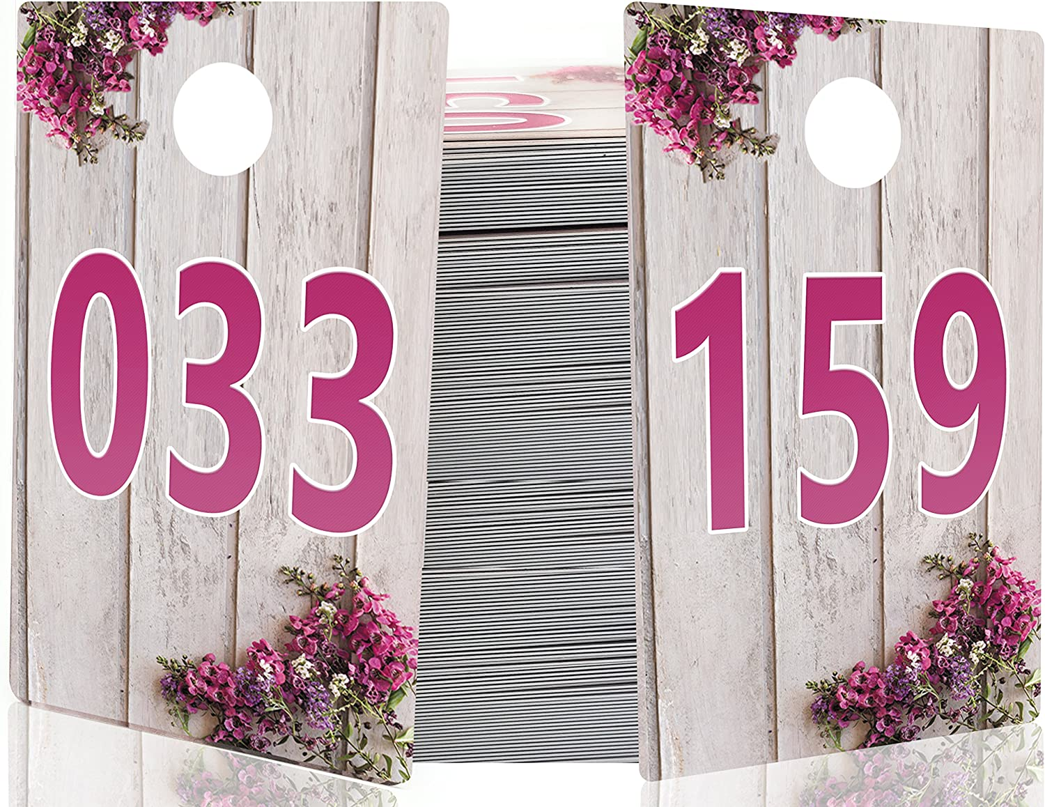 GoalWish Ventures Large Live Sale Number Tags for Facebook Live Sales and LuLaroe Supplies 001-100 Reusable Hanger Cards Normal and Reversed Mirrored Image 100 Consecutive Numbers