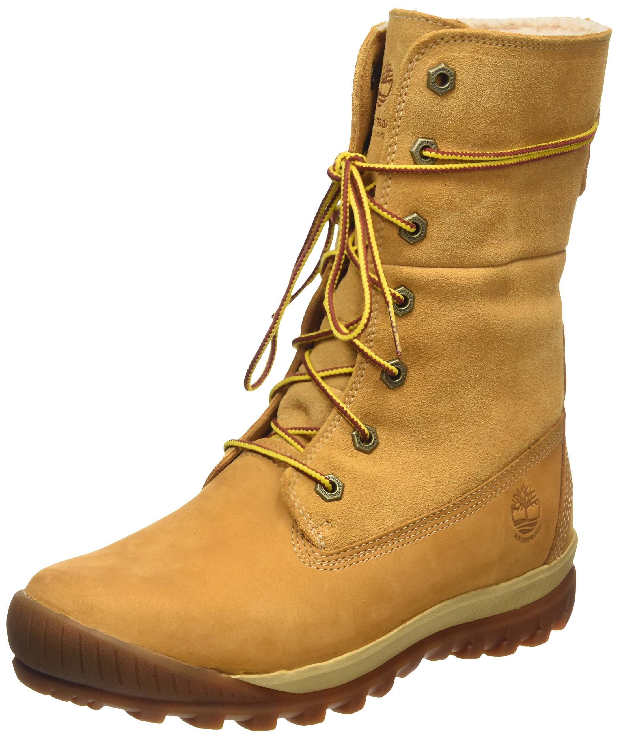 timberland woodhaven teddy women 39 s snow boots braun wheat. Black Bedroom Furniture Sets. Home Design Ideas