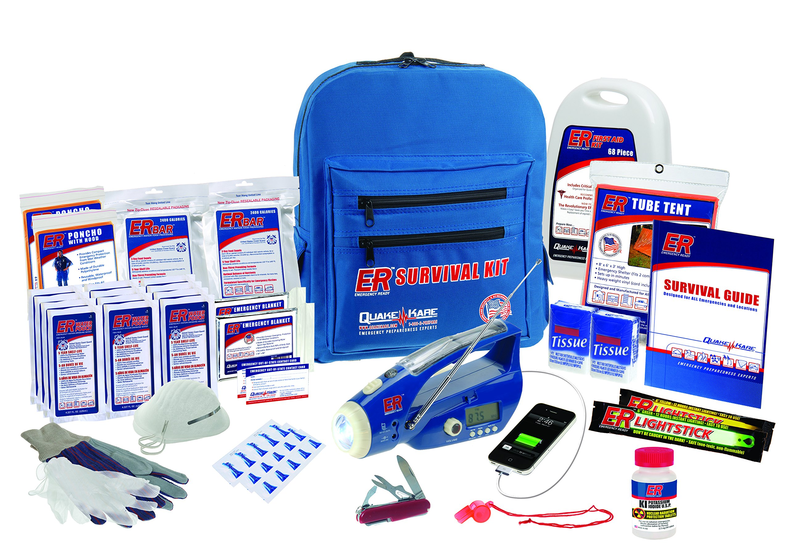 ER Emergency Ready SKBP2DD 2 Person Ultimate Deluxe Backpack Survival Kit