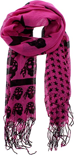 Zac/'s Alter Ego® Long Lightweight Butterflies /& Floral Print Scarf with Border