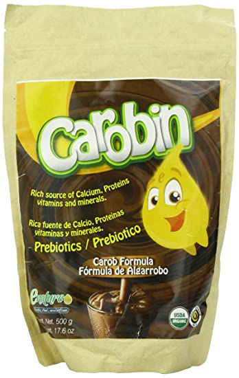 Enature Carobin - Oganic carob powder added with calcium and agave inulin, 17.6 Ounce