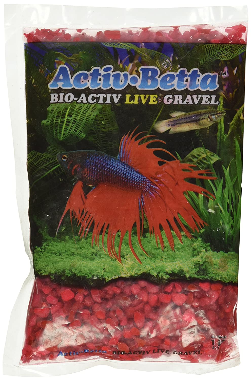 Activ Betta Aquarium Sand, 1-Pound, Neon Pink by Activ Betta B004LOIK8K
