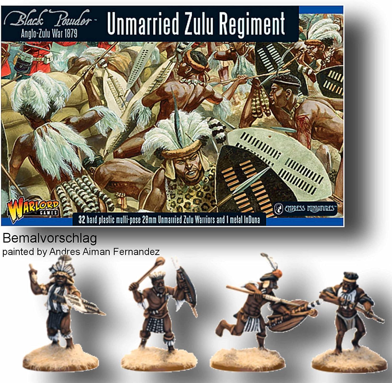 Zulu War 1879-Un-Casados Zulu unidade X 32