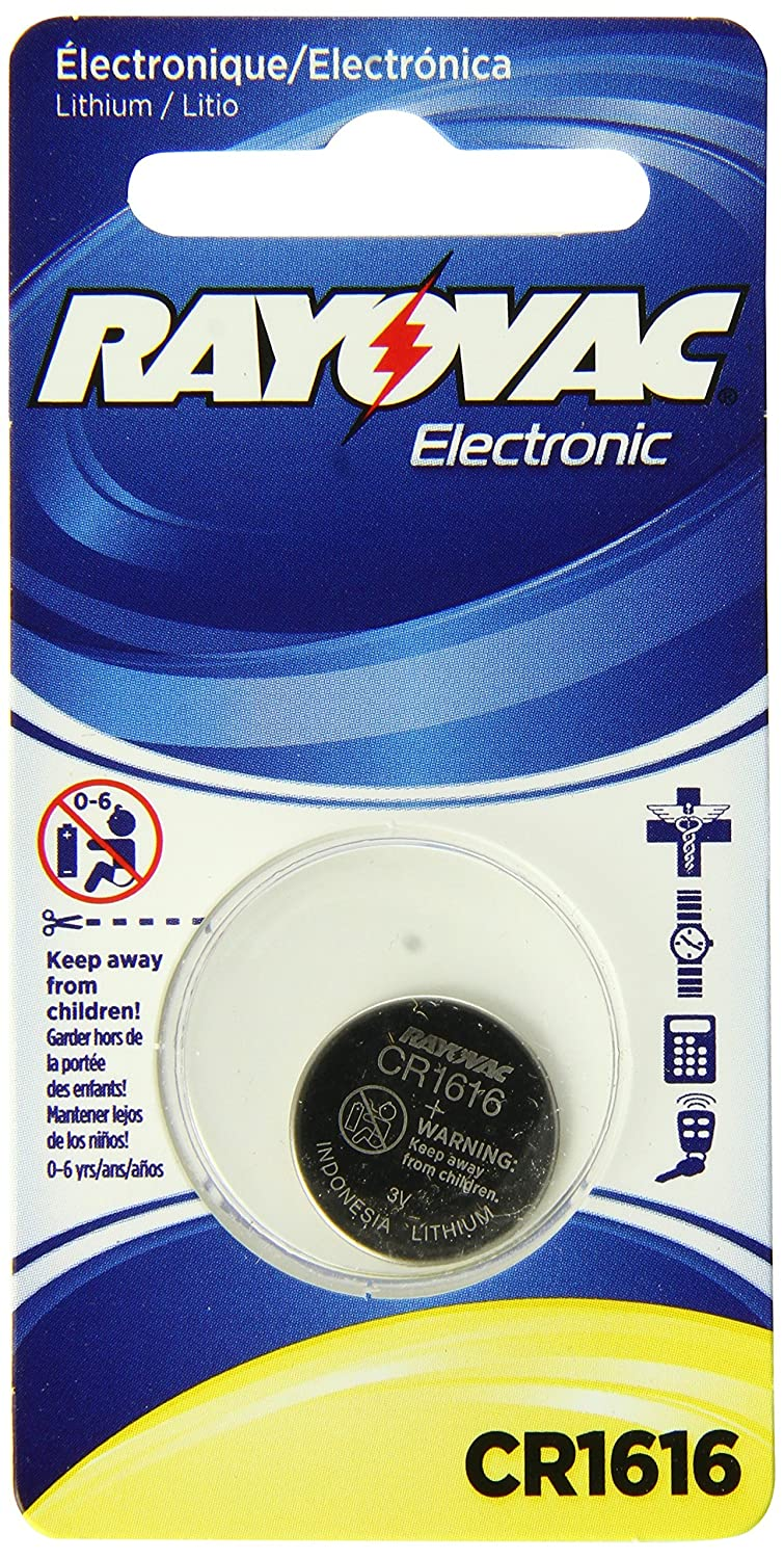 Amazon.com: CR1616 Rayovac 3 Volt Lithium Coin Cell Battery: Health & Personal Care