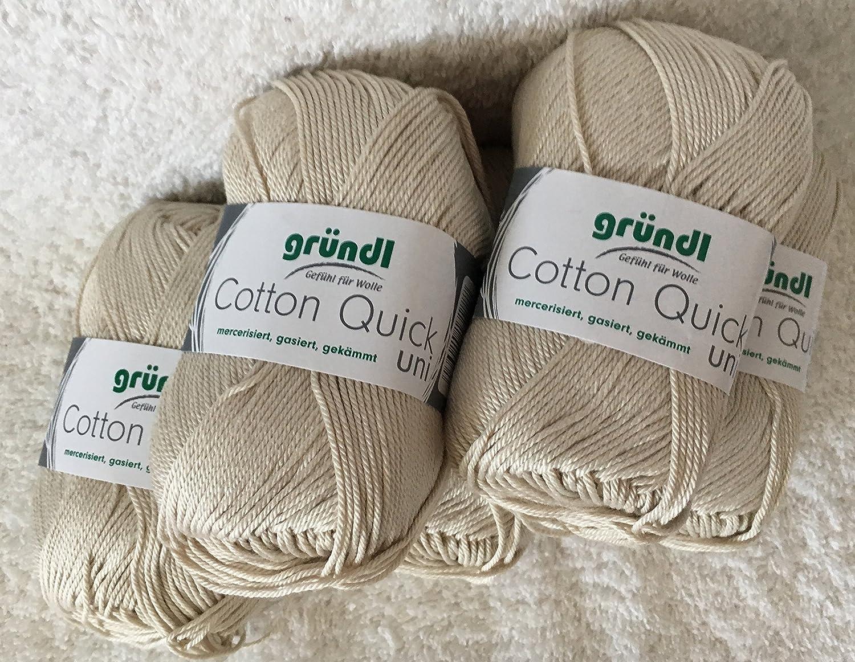 Cotton Quick Gründl Wolle 100  % Baumwolle 50 g Farbe 01 Grundl 865 ... 18ada63082