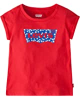 Levi's Girls' Rolled Short Sleeve Graphic T-Shirt