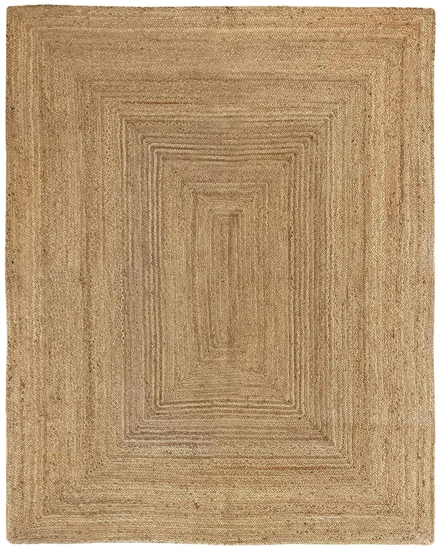 HAMID Jute Teppich - Alhambra Teppich 100% Naturfaser de Jute (200x250cm)