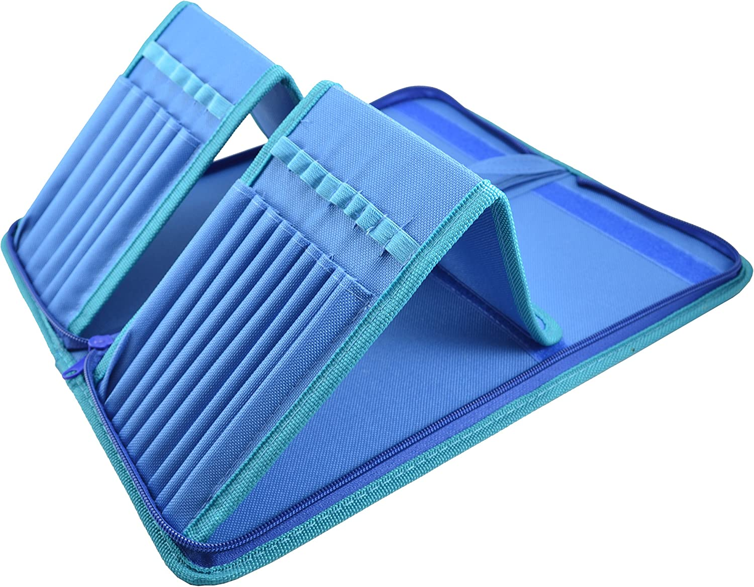 B013W3KONO Paint Brush Holder - Organizer for 15 Long Handle Brushes - Storage for Acrylic, Oil & Watercolor Art Paintbrushes - Artists' Quality Supplies by MyArtscape™ (Cool Blue) 91uIeHRE6PL