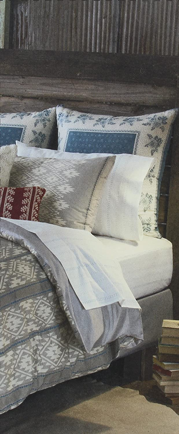 HEARTLAND Lady Antebellums European Pillow Sham from the Belle Meade Bedding Collection in a Blue White Color Pattern