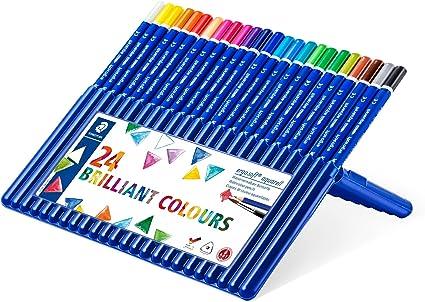 Staedtler Ergosoft 156 SB24. Lápices acuarelables de color triangulares. Caja con 24 unidades de colores variados: Amazon.es: Oficina y papelería