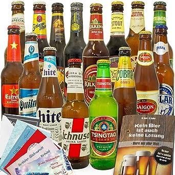 Bier Geschenke Manner Geschenk 16 Biere Aus Aller Welt Amazon