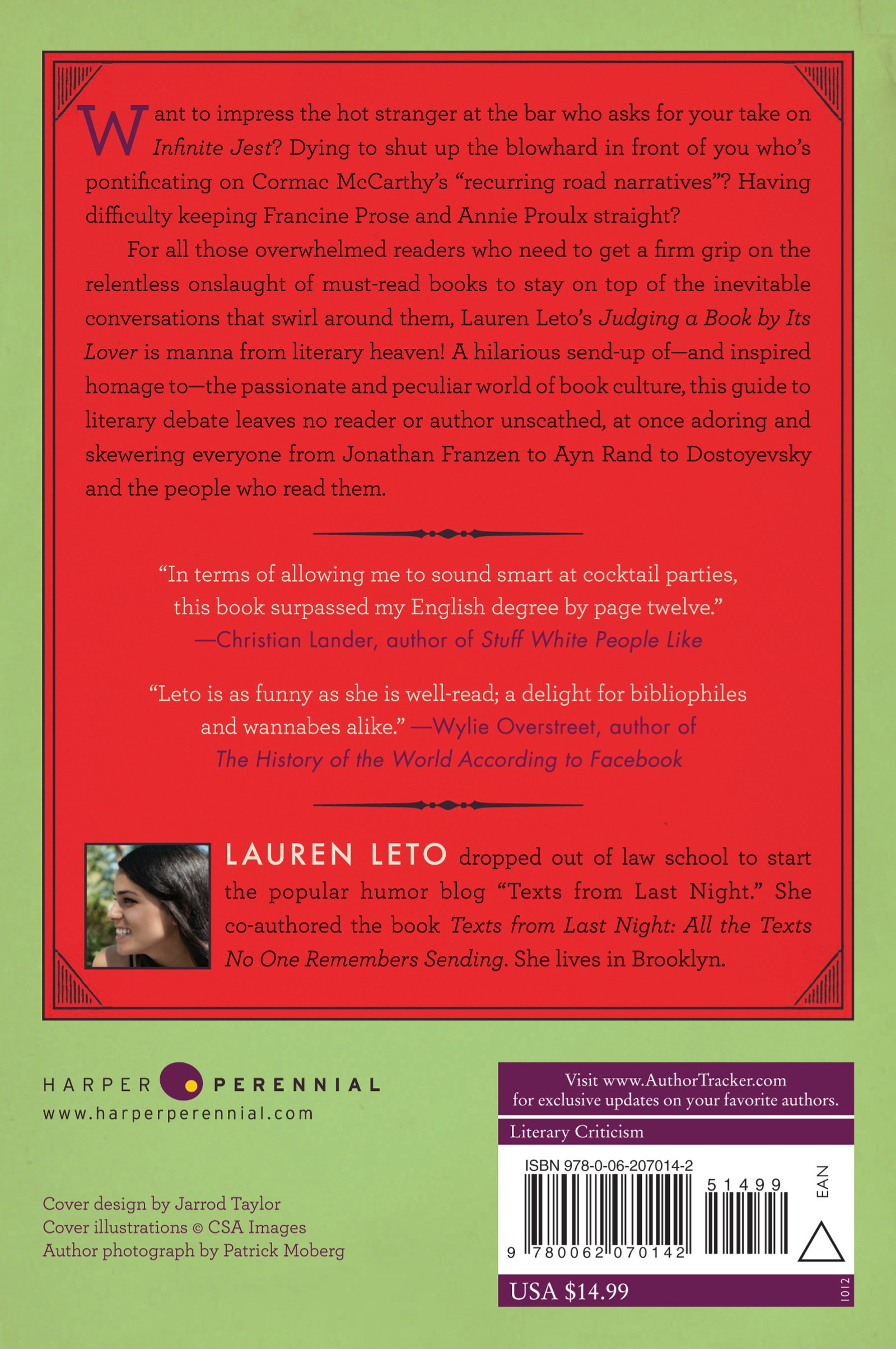Judging A Book By Its Lover: A Field Guide To The Hearts And Minds Of  Readers Everywhere: Lauren Leto: 9780062070142: Amazon: Books