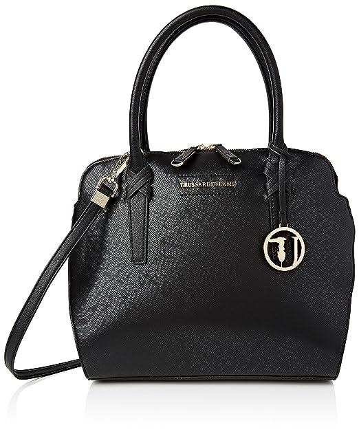 Amazon.com: Trussardi mujer Negro Bolsa de hombro: Clothing
