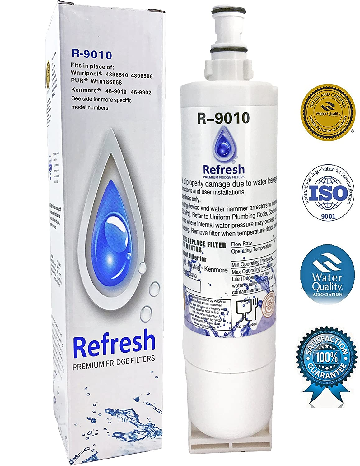 Fridge Filters Amazoncom Whirlpool 4396508 4396510 Compatible Water Filter For