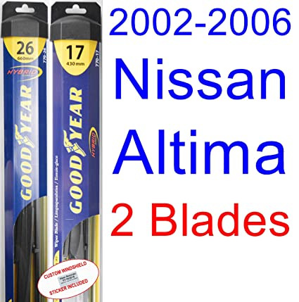 2006 nissan altima windshield wiper size