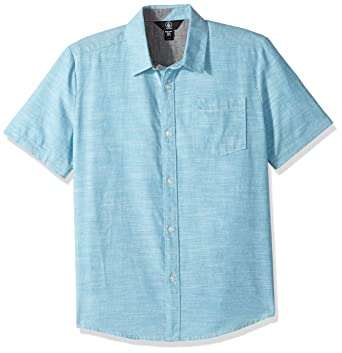 Volcom Big Boys' Everett Oxford Short Sleeve Shirt, Dusty Aqua, ...