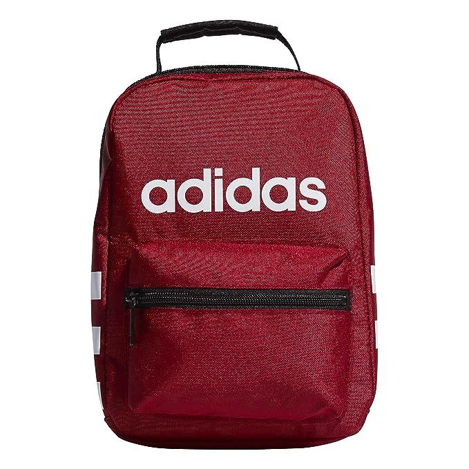 71663c40d1ac Amazon.com: adidas Santiago Lunch Bag, Active Maroon/Black/White ...