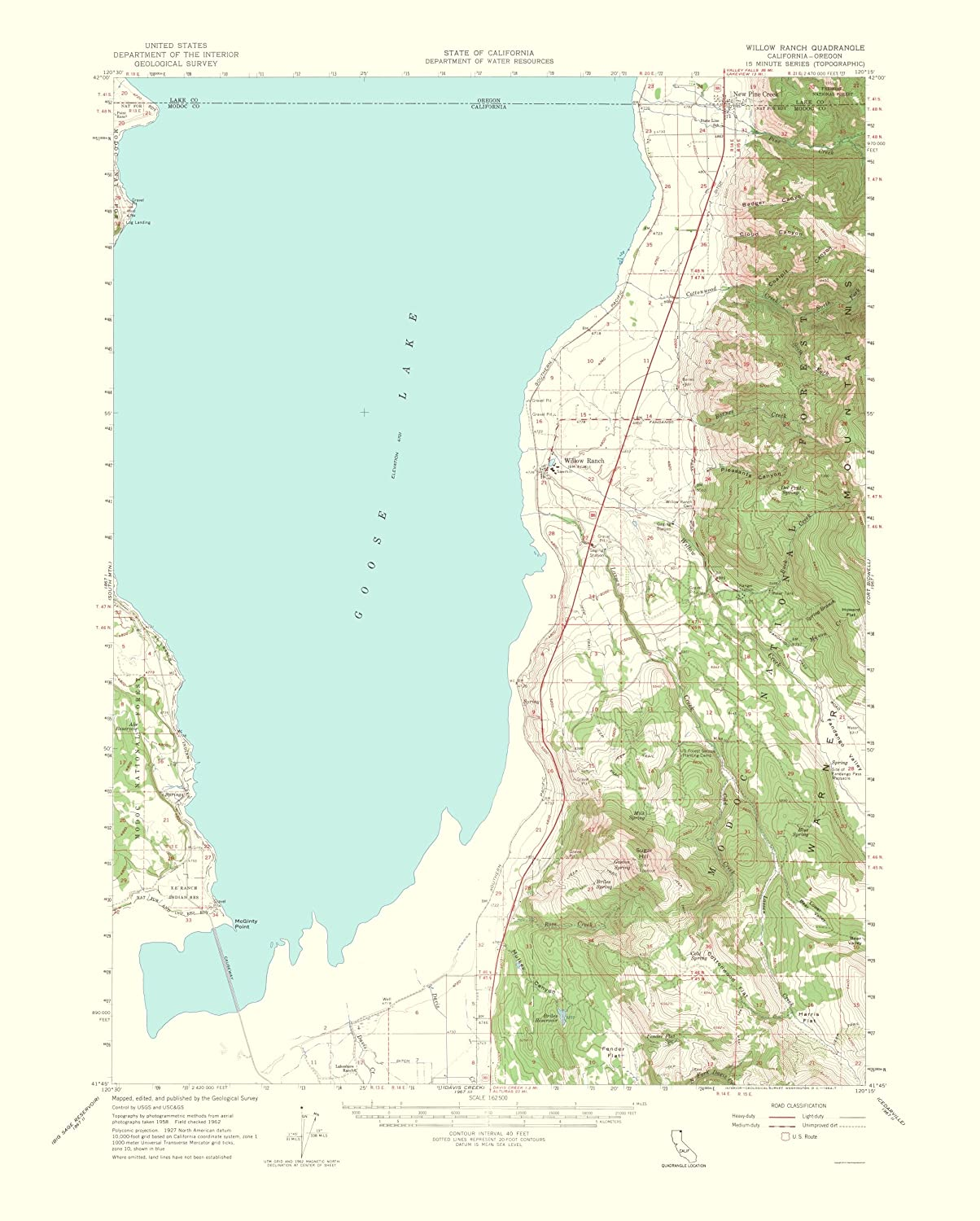 Map Of California To Oregon.Amazon Com Topographical Map Willow Ranch California Oregon Quad