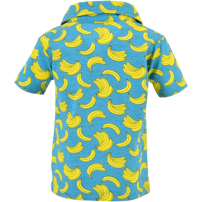 Unique Baby Boys Banana Print Collared Polo Shirt