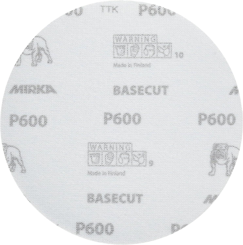 """50 Discs 22-622-600 Mirka BaseCut 6/"""" Grip Discs Grade 600"""
