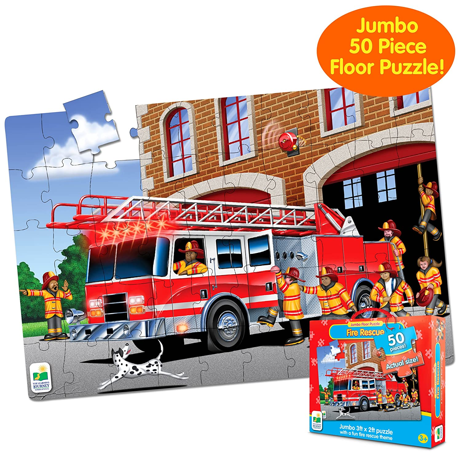 Amazon.com: The Learning Journey Jumbo Floor Puzzles, Fire Engine Rescue:  Toys U0026 Games