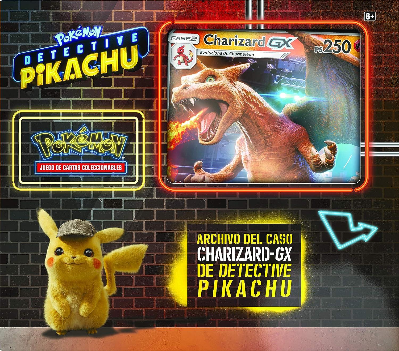 Pokemon JCC - Archivo del caso Charizard-GX de Detective Pikachu (Asmodee, POGX1906): Amazon.es: Juguetes y juegos