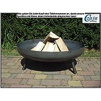 Feuerstelle silber Stahl XXL Fire Pit ✔ rund