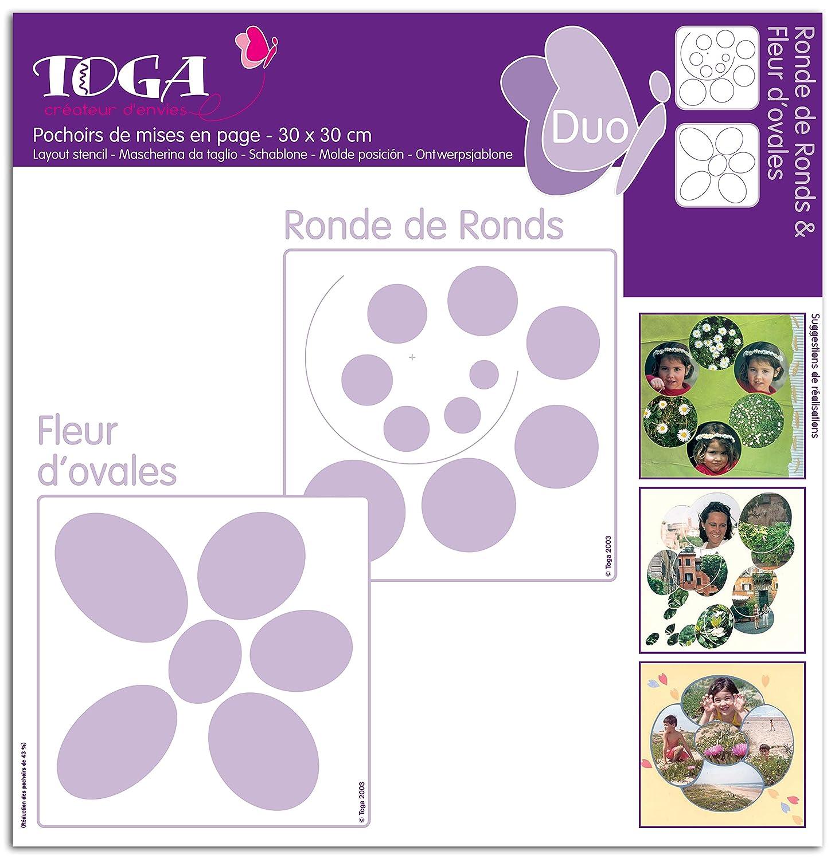 Toga po18 –  Set di 2 Stencil plastica trasparente 30 x 30 x 0, 1 cm 1cm