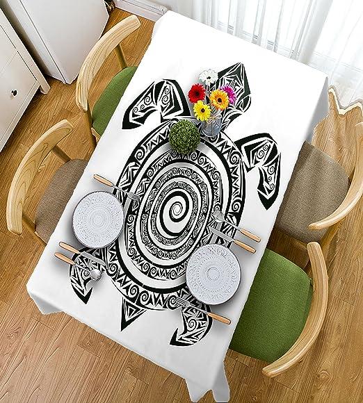 HAIXIA - Mantel con Forma de Tortuga maorí, Estilo de Tatuaje ...