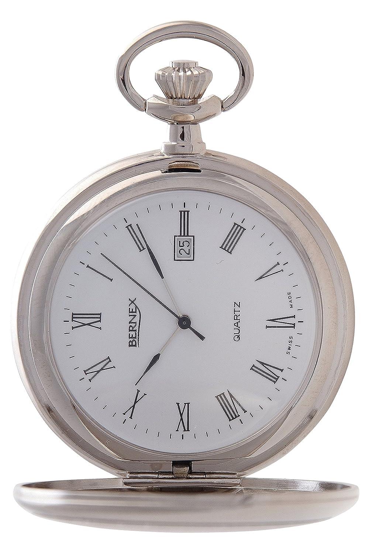 gb21234 – rhodiniert – Full Hunter – Quarz-Uhrwerk – Arabisch Zifferblatt – weißes Zifferblatt