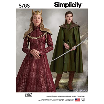 Amazon Com Simplicity Sewing Pattern 8768 H5 Misses