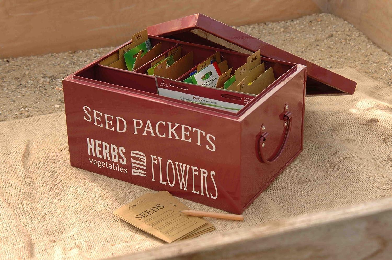 Secret Garden Burgon and Ball Seed Packet Organiser - Burgundy GYO/BIGSTTIN