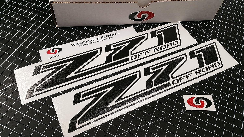 Amazon com z71 off road decal chevy fender tailgate sticker 2014 2018 select color matte blackout automotive