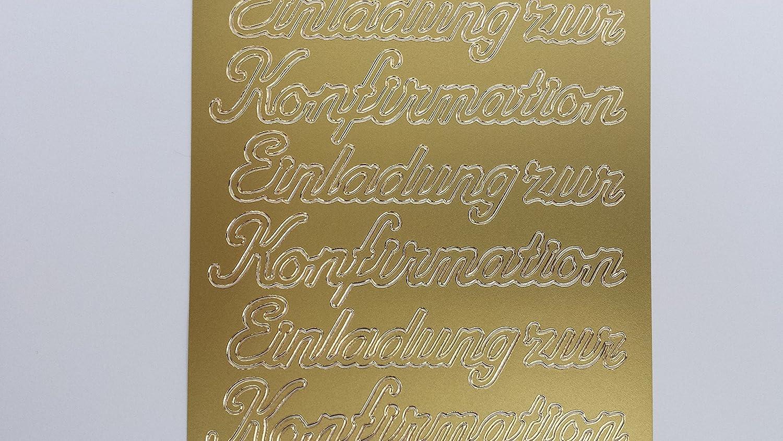498 Stickerbogen Einladung zur Konfirmation Gold Nr